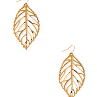 Delicate Leaf Drop Earrings
