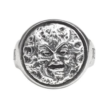Alchemy Gothic Man In The Moon Ring Jewelry Mera Luna