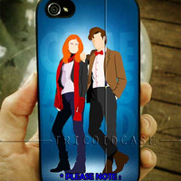 Doctor Who Matt Smith, Hipster Dr Who Amy Pond Rory iPhone Case 4 / 4S / 5 Case Samsung Galaxy S3 / S4 Case