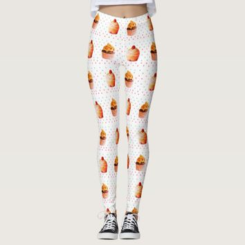 Sweet Cupcakes Custom Leggings