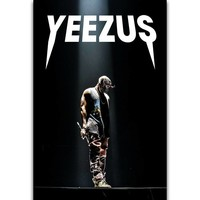 S2521 Kanye West Yeezus Tour American Grammy Rapper Singer Wall Art Painting Print On Silk Canvas Poster Home Decoration