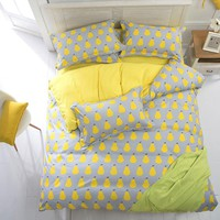 Home textile,Reactive Print  bedding sets luxury include Duvet Cover Bed sheet Pillowcase,King Queen Full size,Free shipping