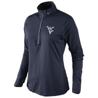 West Virginia Mountaineers Nike Women's Platinum Element Top - Navy Blue