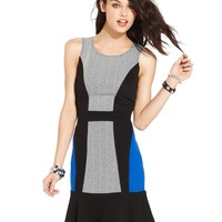 Teen Vogue Juniors Dress, Sleeveless Colorblock Sheath - Juniors Dresses - Macy's