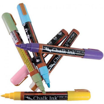 Chalk Ink - Chalkboard Marker - 6 Color Pen Set - 6mm