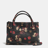 TURNLOCKborough bag in floral print leather