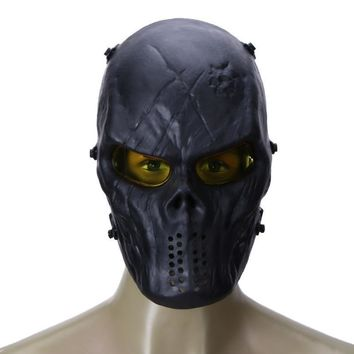 Skull Skulls Halloween Fall Cycling Face Mask   Party Mask TPR and PC Lens Skeleton CS Field Games Protection Mask Party Decor Cycling Equipment Calavera