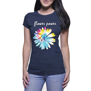 Flower Power Graphic Tee (mj-os-NL3900-flowerpower-mltclr)