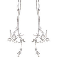 Catherine Weitzman Branch and Flying Dove Earrings - Max and Chloe