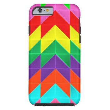 Colorful Abstract Chevron Zig Zag Stripe Pattern Tough iPhone 6 Case