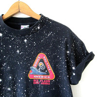 Vintage 1990s SIX FLAGS Space Shuttle Great America Space Tshirt
