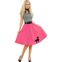 Adult Pink Poodle Dress Costume