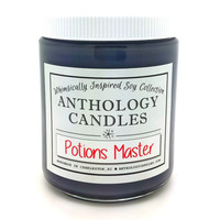 Potions Master Candle - Anthology Candles, Harry Potter Candle, Book Candle, 8oz Jar