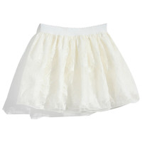 ROMWE | Feather Embroidered White Puff Skirt, The Latest Street Fashion
