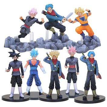 Dragon Ball Super Soul X Soul Son Goku Trunks DXF the super warriors Vol.3 Vegetto Black Goku PVC Figures Collectible Model Toy