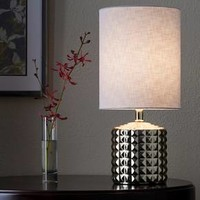 Gold Plated Geometric Ceramic Table Lamp - Threshold™