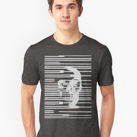 'Skull and Lines' Long T-Shirt by hypnotzd