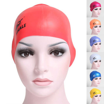 2016 hot sale women men Adult  Cloth swimming cap surf hat Protect Ears Long Hair Sports Swim Pool Shower cap