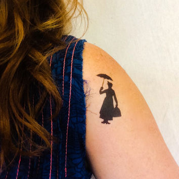 2 Mary Poppins Temporary Tattoos- GeekTat - Stocking Stuffer
