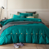 2016 New Minimalist Pure Style Bedding Sets Bed Sheet and Duver Quilt Cover Pillowcase Soft and Comfortable Queen