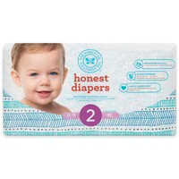 Honest Diapers in Teal Tribal Pattern