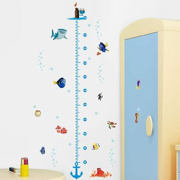 Nemo Fish Height Measure Chart Wall Stickers