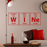 Periodic Table Wall Decals Wine Elements Lettering Home Decor for Kitchen M012