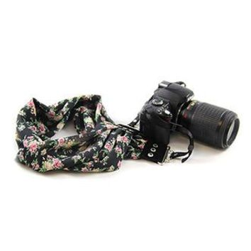 Jasmine Scarf Camera Strap - Capturing Couture - CASCARF-JASM