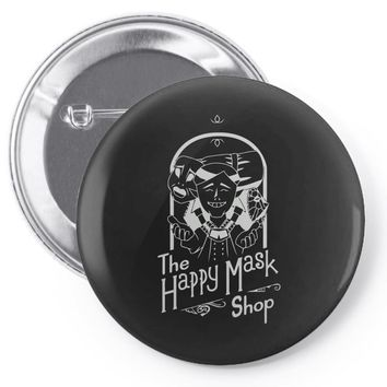 happy mask store Pin-back button