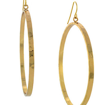Bcbgeneration Gold-Tone Drop Hoop Earrings
