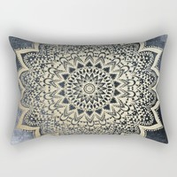 BOHO NIGHTS MANDALA Rectangular Pillow by Nika