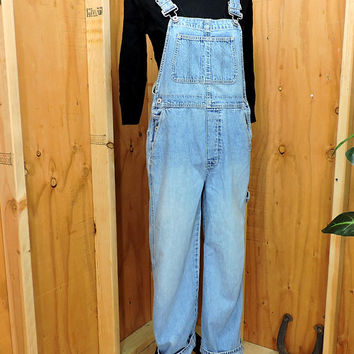 Vintage Gap Overalls / size S / 90s GAP bib overalls / light wash denim over all jeans / carpenter overalls / retro grunge
