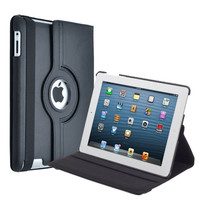 Black iPad 2 3 4 360 Rotating Magnetic Leather Case Smart Cover Stand 2nd 3rd 4th Gen = 1932406980