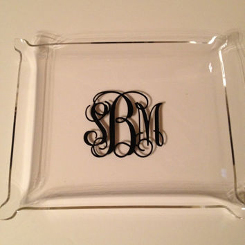 Personalized Acrylic Tray or Catch All Tray