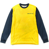 Top Speed L/S Tee True Yellow Navy