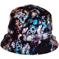 The Cement Paint Bucket Hat in Black