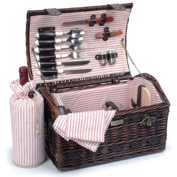 Willow picnic basket with deluxe for 2 Persons - The Couture Collection