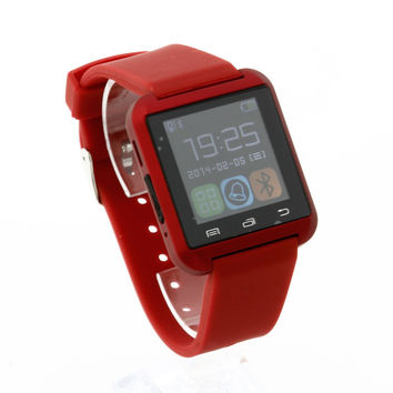 Red  Bluetooth smart watch U8 smartWatch for Samsung S4/Note2/3 for HTC for LG for Xiaomi Android Phone Smartphones 88019604