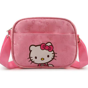 Hot Sale Fashion Hello Kitty Shoulder bag Children Girls Small Messenger Bags Casual Haversack #KTB766