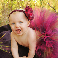 Autumn Burgundy Plum Tutu...Jewel Tone Tutu, Fall Photo Prop, Birthday Tutu, Holiday...Baby, Toddler, Girls Sizes . . . AUTUMN FIRE TUTU