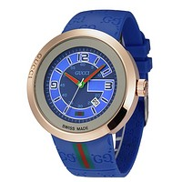 High Quality Gucci Ladies Fashion Casual Watches  - Blue