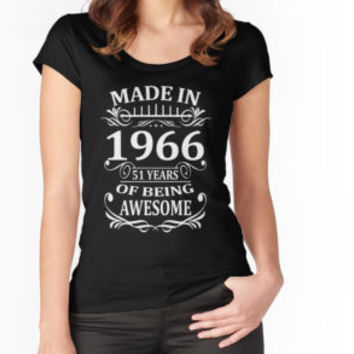 'Made In 1966 51 Years Of Being Awesome' T-Shirt by artdesigner121