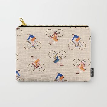 Bike Pattern Carry-All Pouch by chotnelle