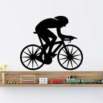 Wall Decals Cyclist Bicycle Sport Extreme Vinyl Sticker Home Decor O101