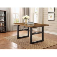 Better Homes and Gardens Mercer Dining Table, Vintage Oak finish - Walmart.com