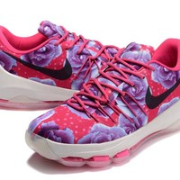 "Nike  Zoom  KD 8 Kevin Durant  Ⅷ   ""Breast Cancer"" Men's    Basketball Shoes"