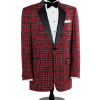 Red Stewart Tuxedo Dinner Jacket $395.00