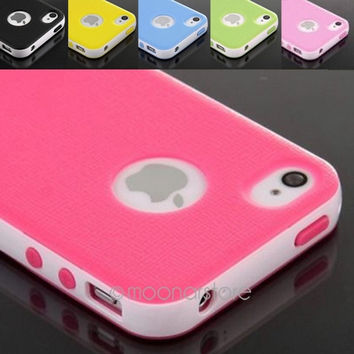 Elegant Hybrid Rugged Rubber Gel Case Cover For iPhone 5 5S = 1958428292