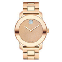 Movado Bold Rose Gold-Tone Link Bracelet Watch | Dillards