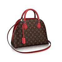 Tagre™ Authentic Louis Vuitton Monogram Canvas ALMA B'N'B Bag Handbag Red Article: M41779 Made in France